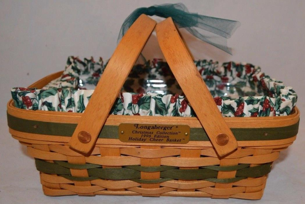 1996 Longaberger Holiday Cheer Christmas Basket