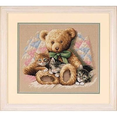 35236 Teddy & Kittens Counted Cross Stitch Kit
