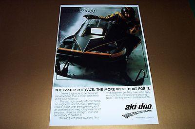 84 SKI-DOO BLIZZARD 9700 SNOWMOBILE POSTER     vintage 9700 Sno-Machine....