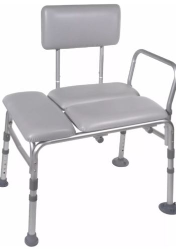Deluxe Padded Transfer Bench Bath Tub Shower Seat 400lb Drive Medical 12005KD-1