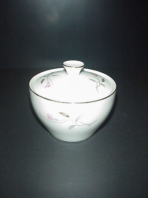 Cherry Blossom Covered Sugar Bowl Fine China 1067 Japan Vintage