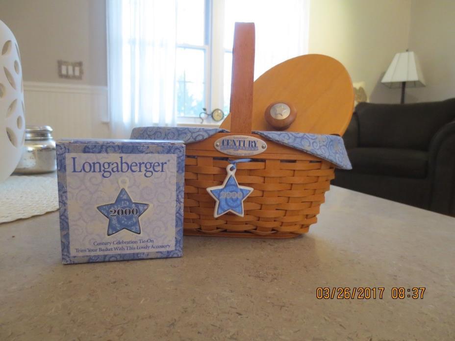 Longaberger Century Celebration 2000 Cheers Basket combo