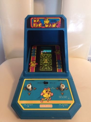 Original Ms. PACMAN Battery Operated Table Top Machine