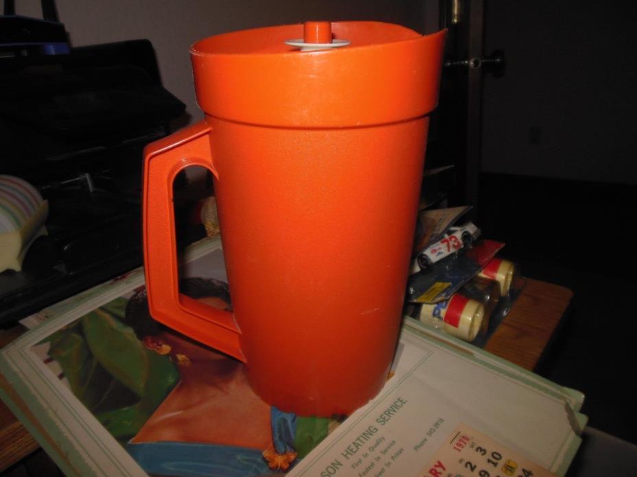 Vintage Tupperware Servalier Pitcher 800-11 Burnt Orange Rust