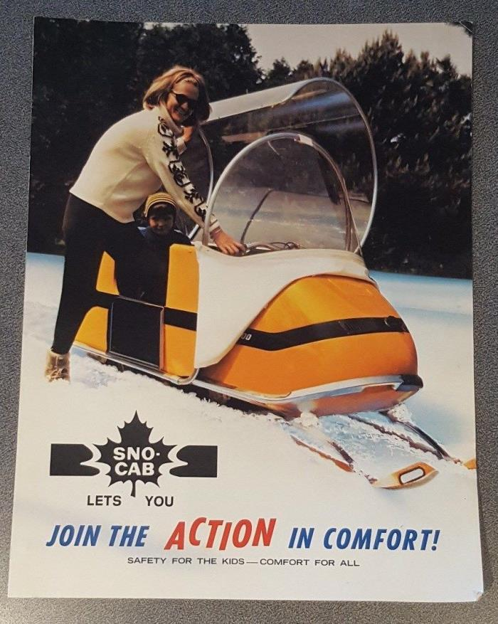 Vintage 1970' Original Sno-Cab Snowmobiling Brochure Ski-Doo SkiWhiz SnowCruiser