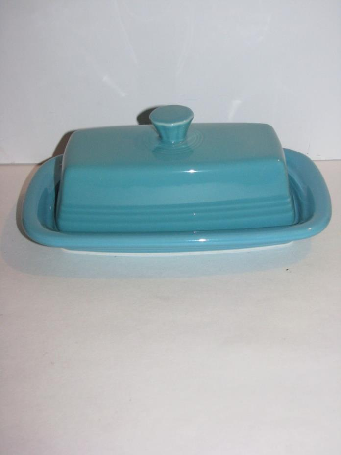 Fiesta Dinner Ware, Extra Large Covered Butter Dish, Turquoise blue, Nice