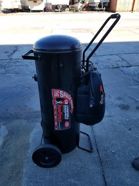 Vertical OR Horizontal Campbell Hausfeld 26 Gallon Compressor