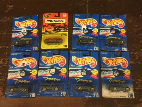 Lot Of 8 Hot Wheels And Matchbox Die Cast Cars Dodge Viper RT/10