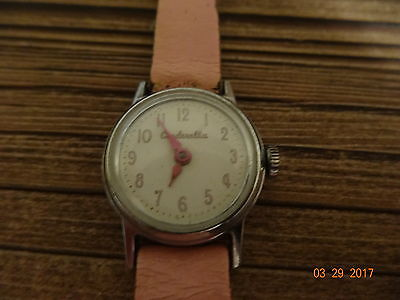 Vintage Cinderella Watch with Original Band - 1960's US Time