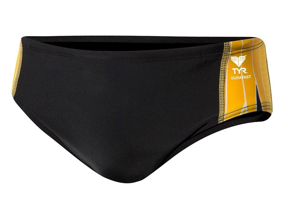 NEW TYR Mens Durafast Elite Phoenix Splice Racer Swim Brief Bikini Size 34 NWT