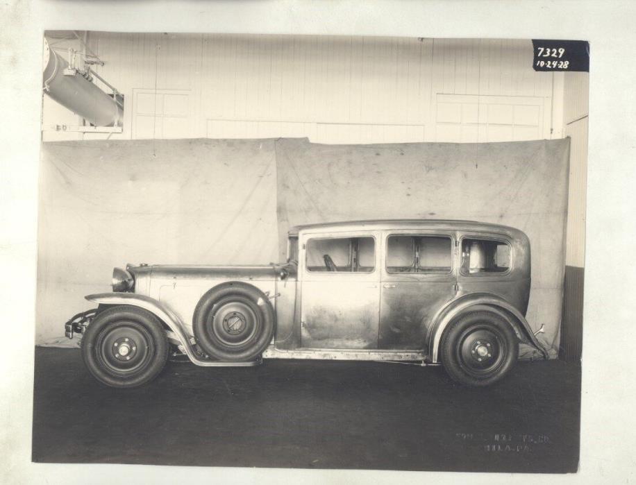 1928 1929 Ruxton Sedan Budd Custom Body ORIGINAL Linen Back Factory Photo ww7394