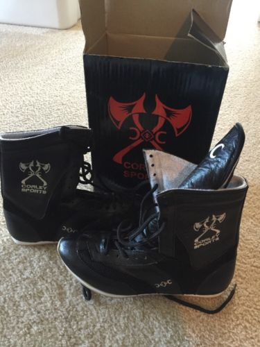 Corley Sports Black Boxing Boots Sz 12 Shoe