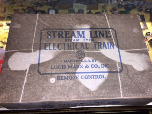 ANTIQUE USA MARX STREAMLINE ELECTRIC TRAIN SET IN BOX RAILROAD ENGINE Rare