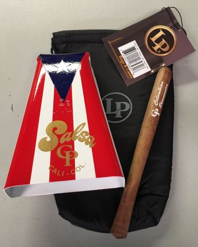 Hand Held Cowbell CP#5 with Puerto Rico Flag Design -Salsa With  LP Pouch.