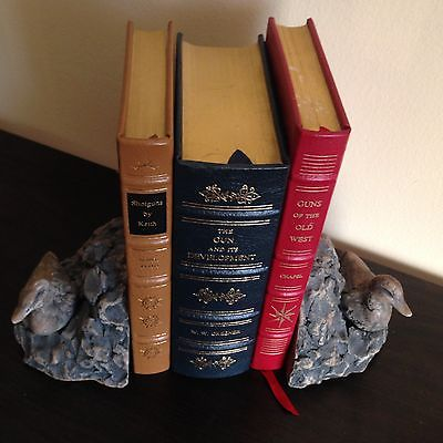 DUCK DECOY Hand carved stone BOOKENDS by
