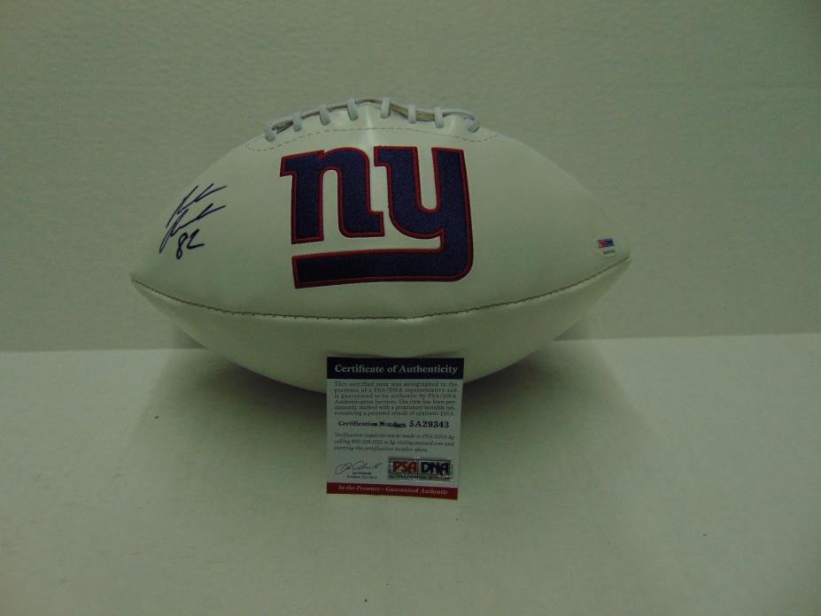 Rueben Randle Autographed Super Bowl Edition Giants Football w/ PSA/DNA COA