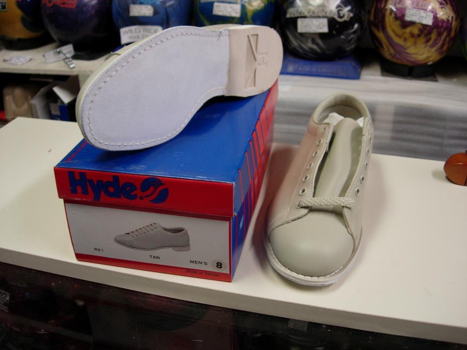 2 pairs 8.0 Hyde R21 Traditional Vinyl Bowling Shoe Men Size 8.0M RH/LH