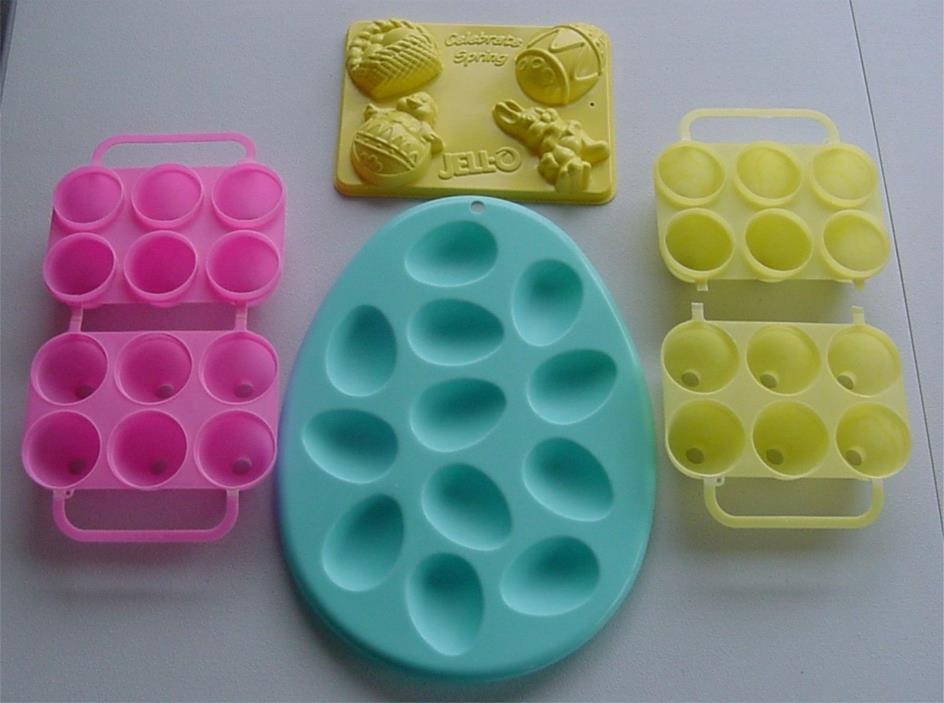 lot Jello Easter Egg Jigglers SMOOTH ETCHED DESIGN+Jiggler EGG Plate+SPRING