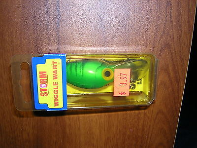 PRE RAPALA STORM WIGGLE WART V 121 METALLIC HOT GREEN CRAYFISH  NEW