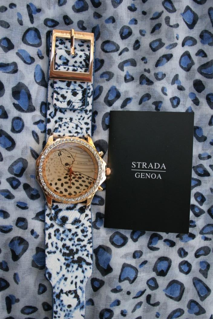 Sprada watch leopard face/ band viscose 64x36