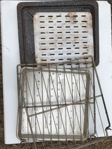 Crown Vintage Propane Cook Stove  Parts Only RC706c Pans Racks And Trays Only