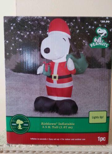 CHRISTMAS YARD DECORATION Air Blowup Santa snoopy