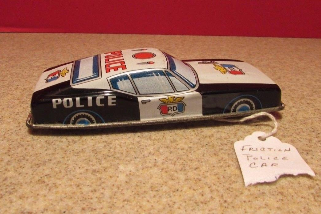 FRICTION vintage POLICE CAR - JAPAN - approx 5