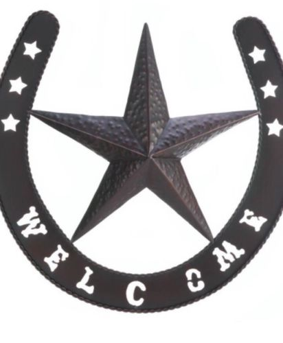 Western Star Wall Decor Welcome Sign
