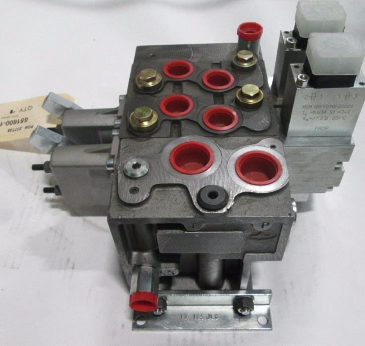 NEW Walvoil DPC130 2 Section Hydraulic Valve 24vdc OEM Part NOS Ag Chipper Parts