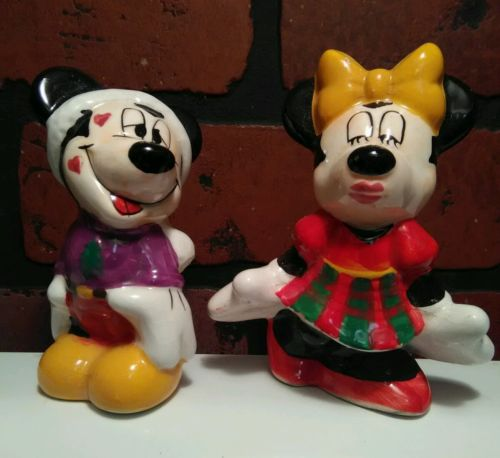 Vintage Mickey and Minnie Mouse Salt & Pepper Shakers Sale