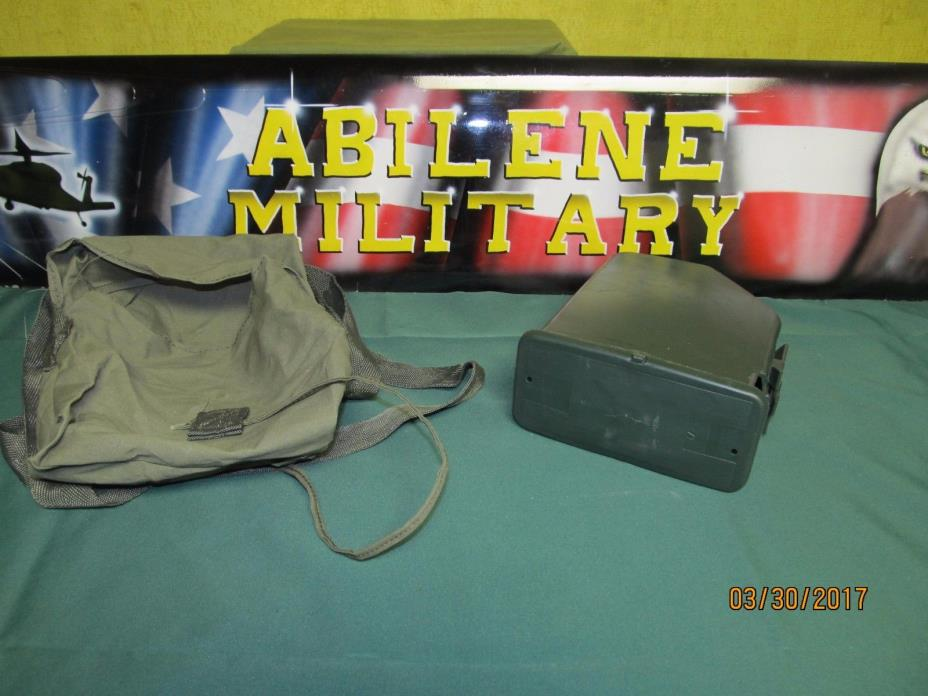 SAW M249 200 Round Ammo Pouch With Plastic Insert, Empty Green