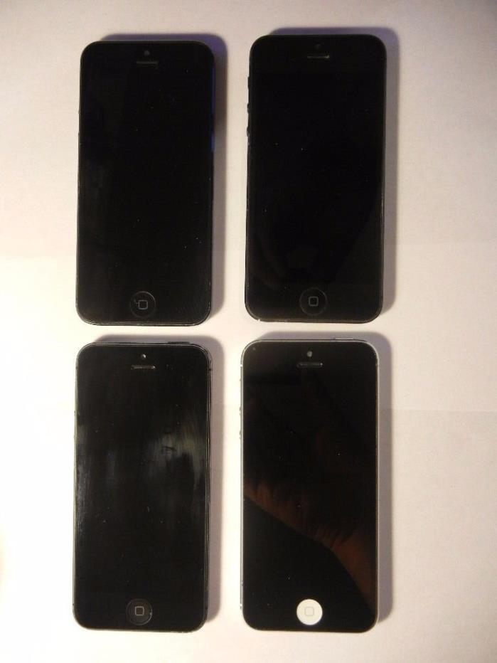 Lot of 4 Apple iPhone 5 NOT WORKING