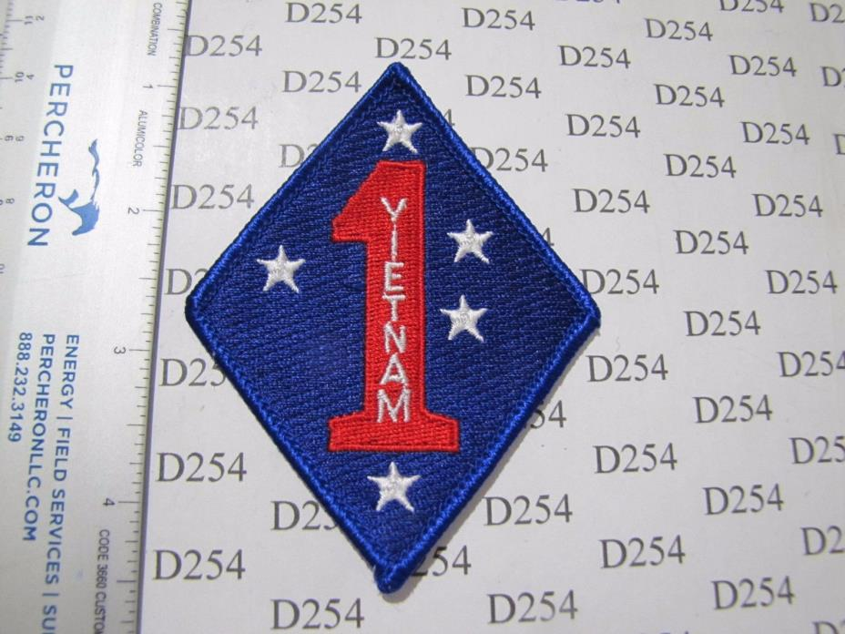 USMC Marine Corps 1st DIVISION w/ VIETNAM VN Marines color Patch novelty variant
