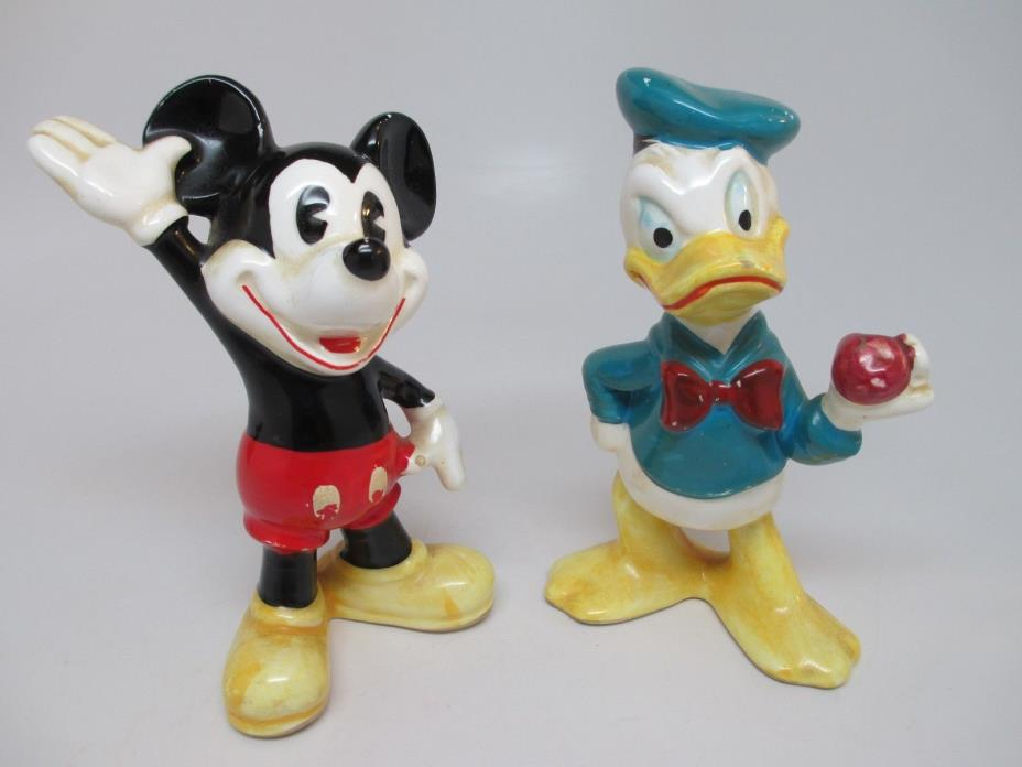 Vintage Mickey Mouse & Donald Duck Figurines Japan