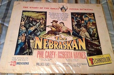 Vintage THE NEBRASKAN Movie Poster (1953) PHIL CAREY ROBERTA HAYNES WALLACE FORD