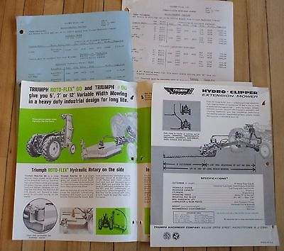 1960's Allis Chalmers Triumph Extendable and Rotary Mower Dealer Sales Brochures