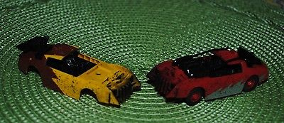 TYCO Racing Warriors Slot Car & Body Battle of the Car Crusher Yellow & Red