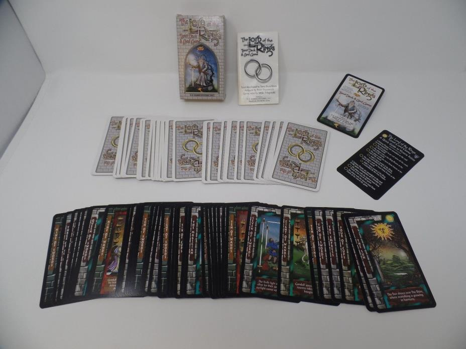 Vintage TLOTR The Lord Of The Rings Tarot Deck & Card Game 1996 Complete