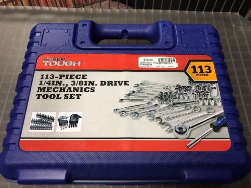 113 Piece Hyper Tough Mechanics Tool Set