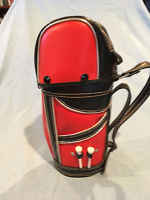 VINTAGE GOLF RELATED WINE/LIQOUR BOTTLE HOLDER, GOLF BAG