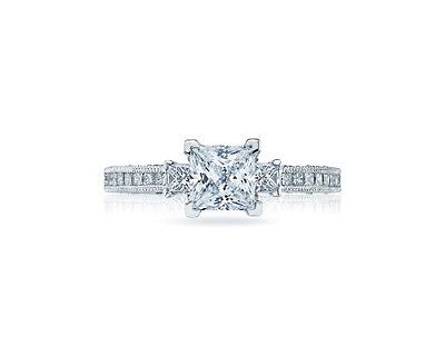 Tacori Classic Crescent HT2430 Platinum Engagement Ring