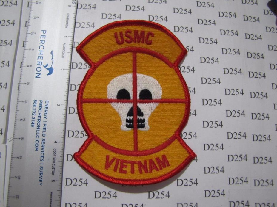 USMC Marine Corps SNIPER VIETNAM VN Marines color Patch novelty