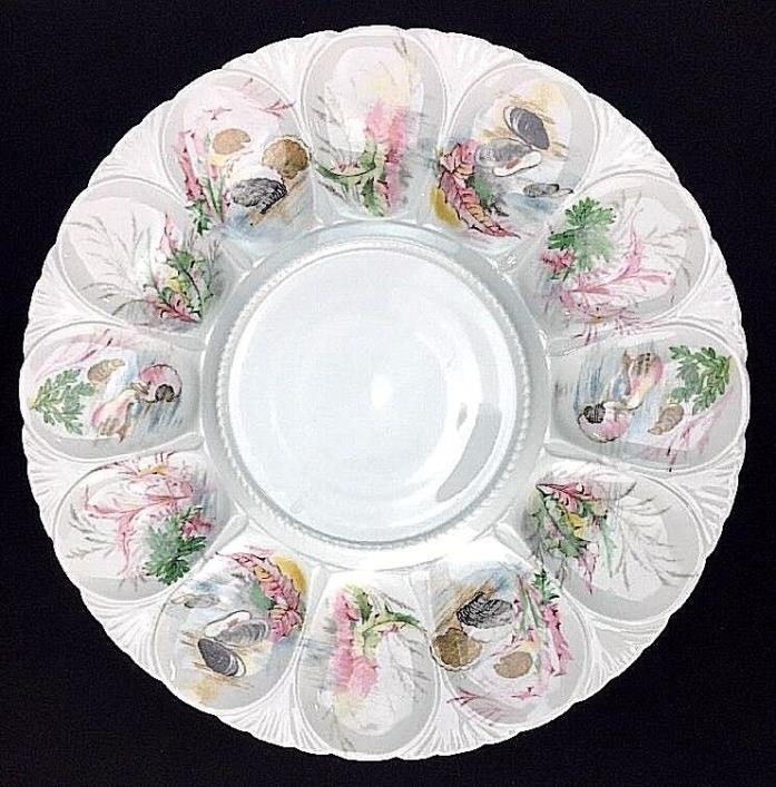 Tharaud Limoges Oyster Plate Serving Platter 13 1/8