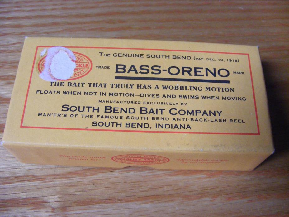 Beautiful Contemporary Classic South Bend Bass Oreno in Red White and Blue n Box