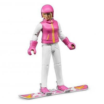 Snowboard Woman with Accessories - Vehicle Toy by Bruder Trucks (60420)
