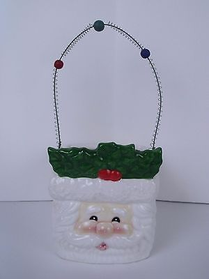 Santa Christmas Ceramic Candy Treat Dish Holiday Decor Dish