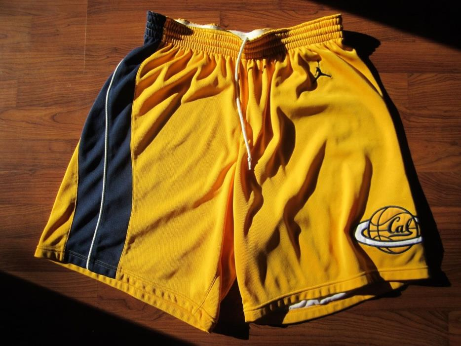 Jordan GAME USED Worn California Cal Golden Bears Basketball Jersey Shorts Kidd