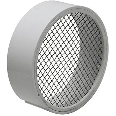 Roof Vents Raven R1509 PVC Termination Vent with 304 Stainless Steel Screen, 3