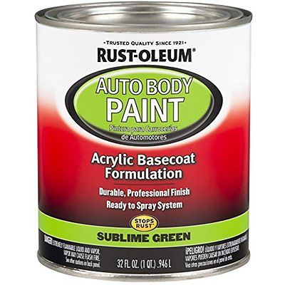 Body Paint Rust-Oleum 275235 Sublime Green Automotive Auto Body Paint - 32 oz.
