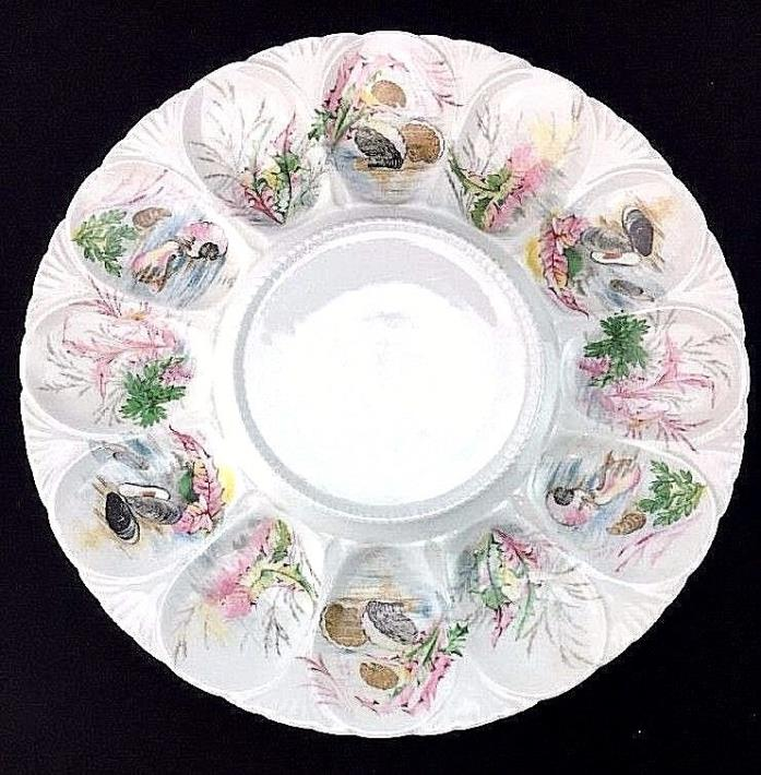 Tharaud Limoges Oyster Plate Serving Platter France Porcelaines #A